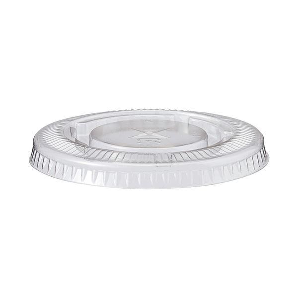 (まとめ)TANOSEE PETカップ フタ270ml用 1パック(100枚)【×10セット】