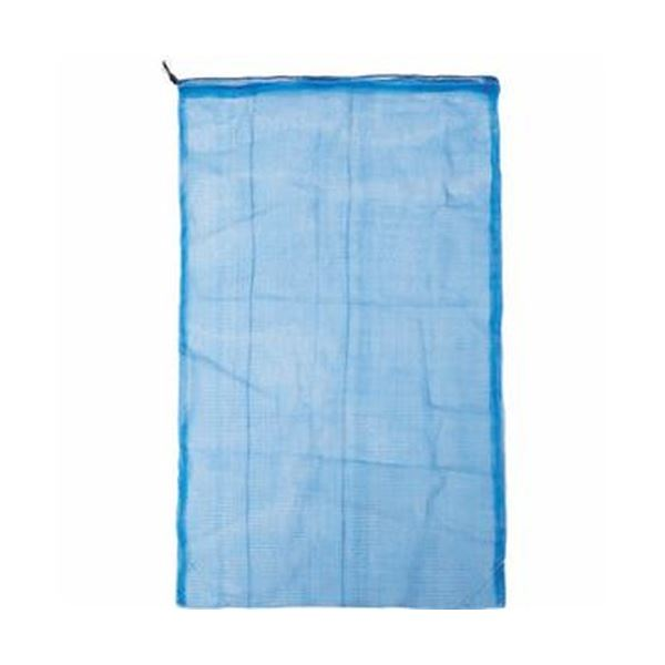(まとめ)TRUSCO メッシュ回収袋35×20cm ブルー TMK-3520-50 1箱(50枚)【×5セット】