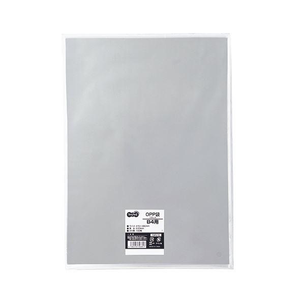 (まとめ) TANOSEE OPP袋 フラット B4用 270×380mm 1パック(100枚) 【×10セット】