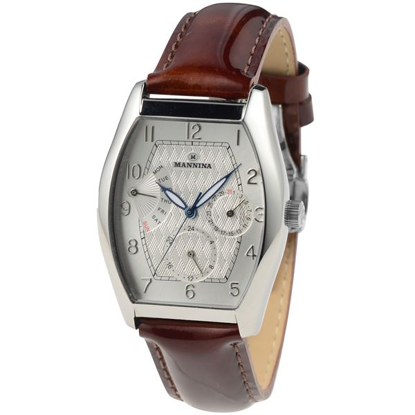 MNN003-01 MANNINA(マンニーナ) ブラウン(文字盤:シルバー) 正規輸入品 メンズ 腕時計