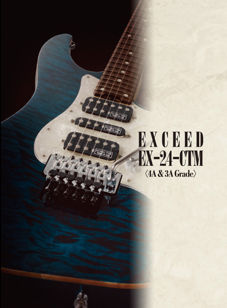 【SCHECTER】シェクター/EXCEED EX-24-CTM-FRT[4A Grade]ハードケース付き