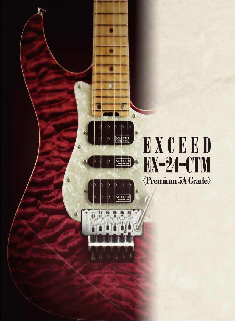 【SCHECTER】シェクター/EXCEED EX-24-CTM-FRT[Premium 5A Grade]ハードケース付き