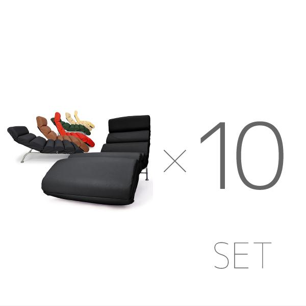 リクライニングソファ 一人掛け 合成皮革 レバー式 無段階リクライニング シアターソファ ミラノ 10台セット「プレゼント」「ギフト」