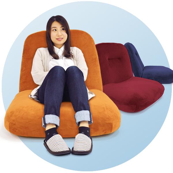 座椅子 モイモイ 大きな座椅子 ハイバック ポケットコイル レバー 14段 リクライニング ワイドサイズ かわいい 全3色 「プレゼント」 「ギフト」 「おすすめ」 「父の日」