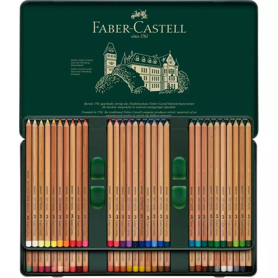 ファーバーカステル FABER-CASTELL ピットパステル色鉛筆 60色セット 缶入 112160 安心の海外正規品 直輸入