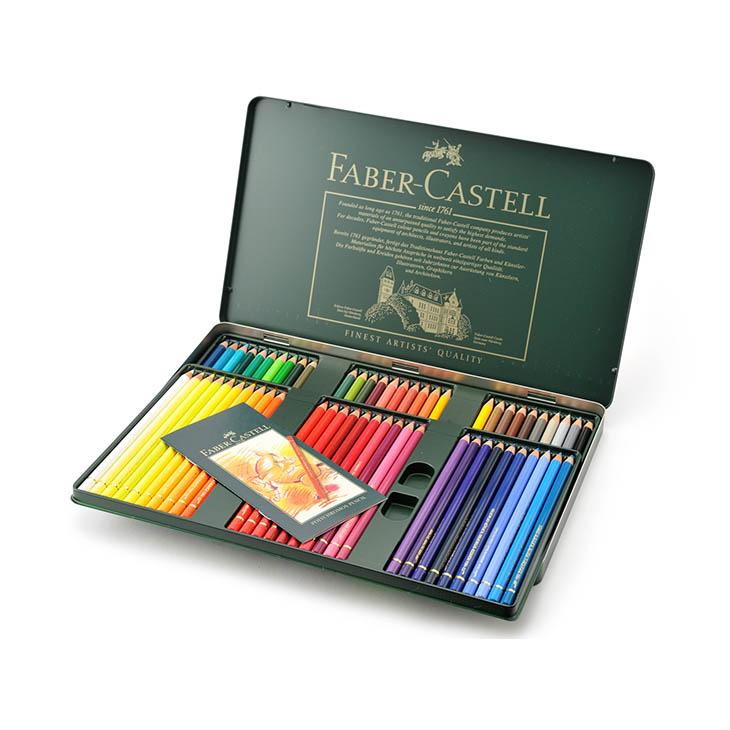 FABER-CASTELL ファーバーカステル 110060 ポリクロモス色鉛筆 60色 缶 安心の海外正規品 直輸入