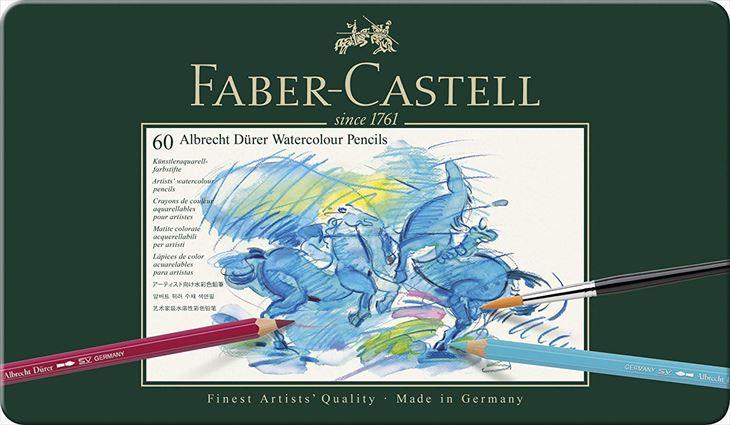 ファーバーカステル FABER-CASTELL アルブレヒト デューラー水彩色鉛筆セット 60色 缶入 117560 クリスマスプレゼント 安心の海外正規品 直輸入あす楽