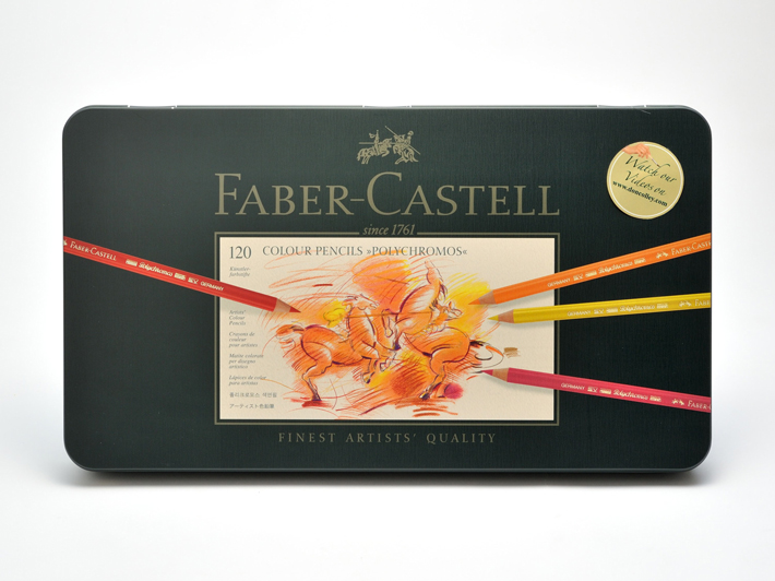 FABER-CASTELL ファーバーカステル 110011 ポリクロモス色鉛筆 120色 缶 安心の海外正規品 直輸入 あす楽