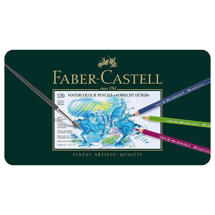 ファーバーカステル FABER-CASTELL アルブレヒト デューラー水彩色鉛筆セット 120色 117511 缶入 安心の海外正規品 直輸入あす楽