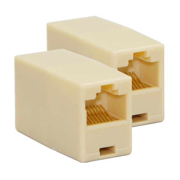 DMヤマトメール便 年末年始大決算 送料無料 2個セット LANケーブル 正規品 延長コネクター 2個 RJ45 Cyberplugs メスlan 中継コネクター セット アダプタ