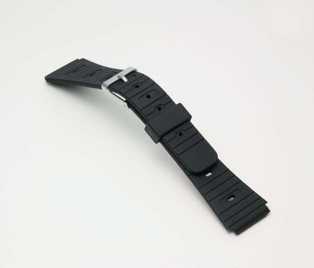 ネコポス便選択時:送料無料 激安特価品 時計 ベルト 時計ベルト 腕時計ベルト 時計バンド チープ バンド 腕時計バンド BG060A 18mm バンビ 薄型 ブラック スポーツタイプウレタンベルト