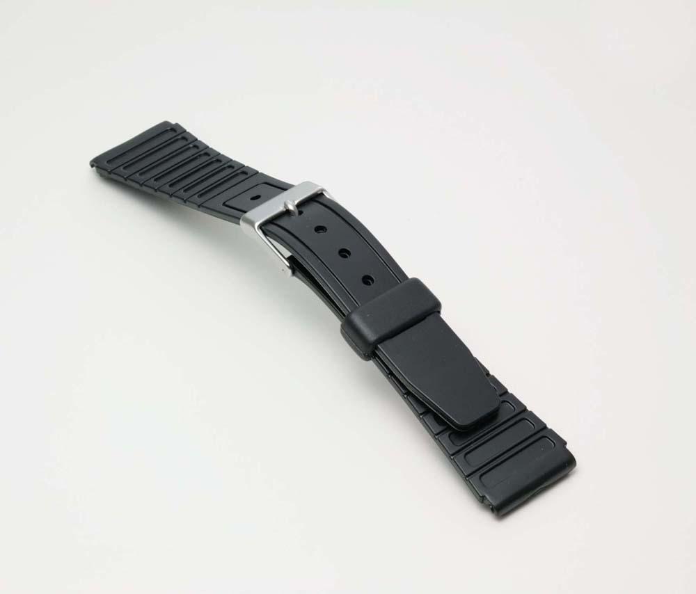 ネコポス便選択時:送料無料 時計 ベルト 最新号掲載アイテム 時計ベルト 腕時計ベルト 時計バンド バンド 19mm BG063A スポーツタイプウレタンベルト ブランド買うならブランドオフ バンビ 腕時計バンド 薄型 ブラック