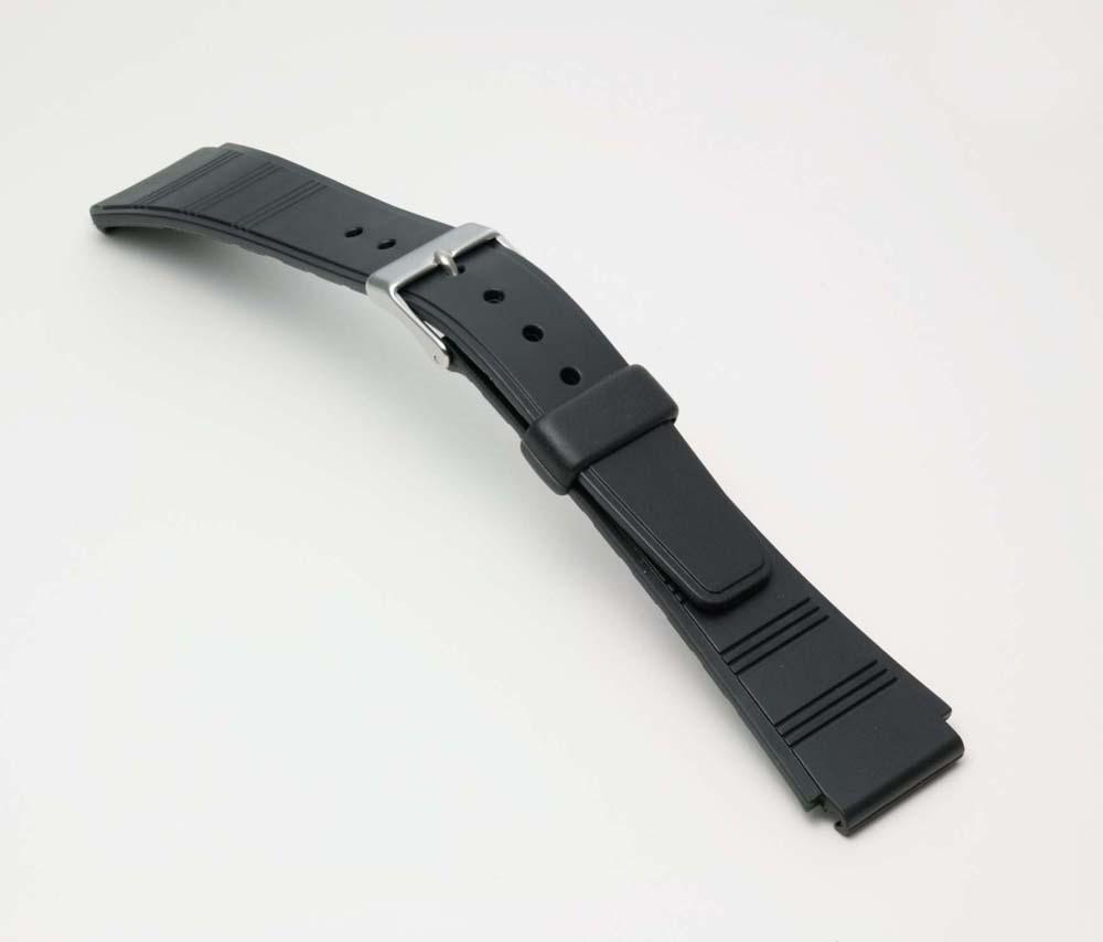 Watch watch band BG090A Bambi / sport type urethane belt (thin type): Watch belt / black 18 mm fs3gm