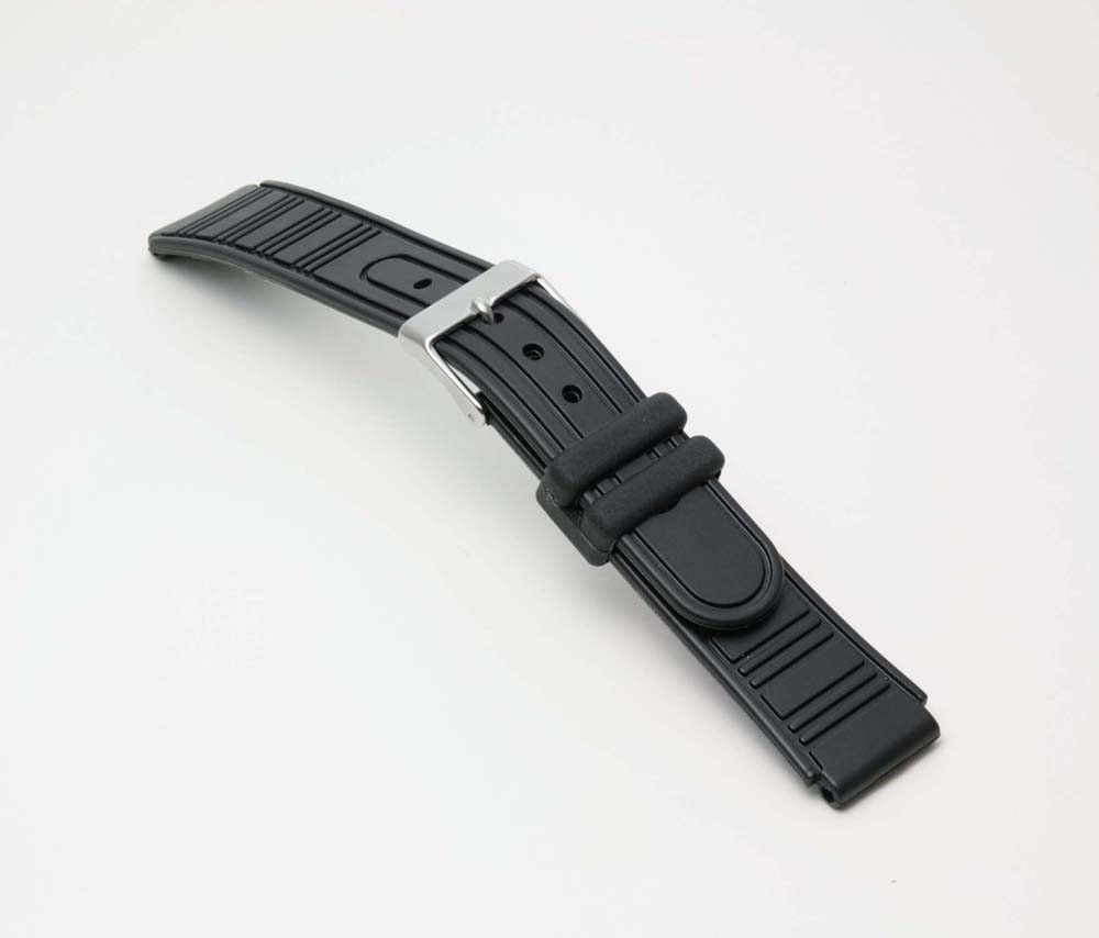 Clock belt clock band BG094A Bambi sports type urethane belt (thin) clock belt black 16mm fs3gm