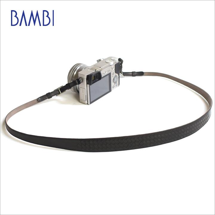 BAMBI バンビ カメラストラップ カメラ用 ネックストラップ GUIDI革 編み込み 【NSG-Z25B】【CP+ 2018 出品商品】 【送料無料】