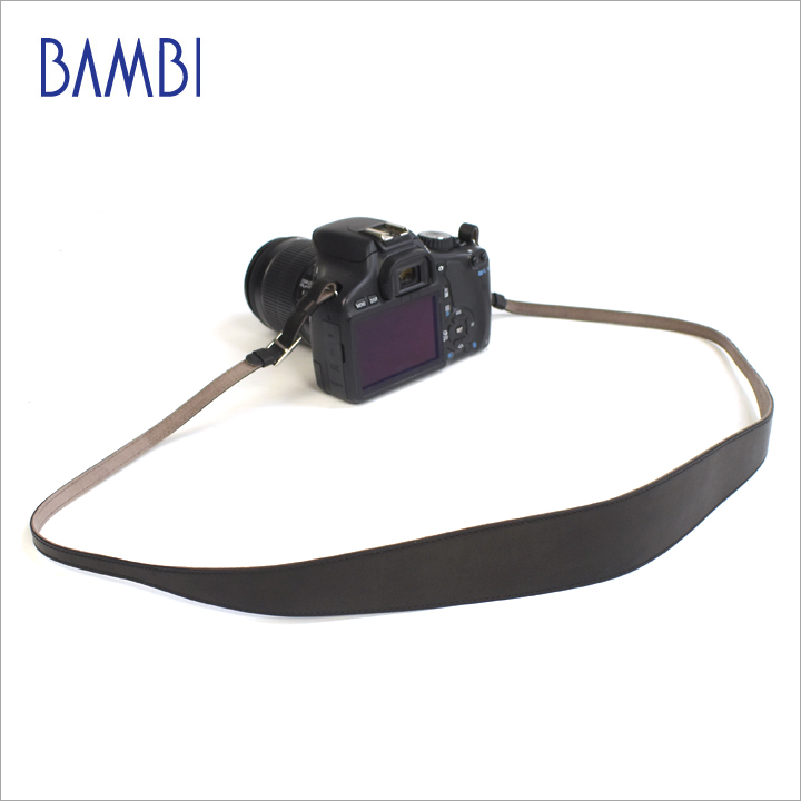 BAMBI バンビ カメラストラップ カメラ用 ネックストラップ GUIDI革 同色ステッチ 【NSG-Z13】【CP+ 2018 出品商品】 【送料無料】
