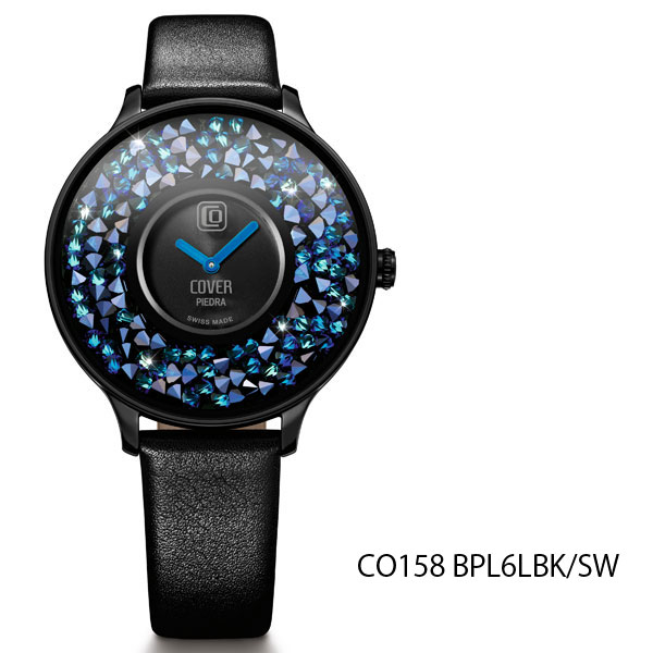 【COVER】コヴァー レディース 腕時計 PIEDRA CO158BPL6LBK/SW【送料無料】【お取り寄せ商品】