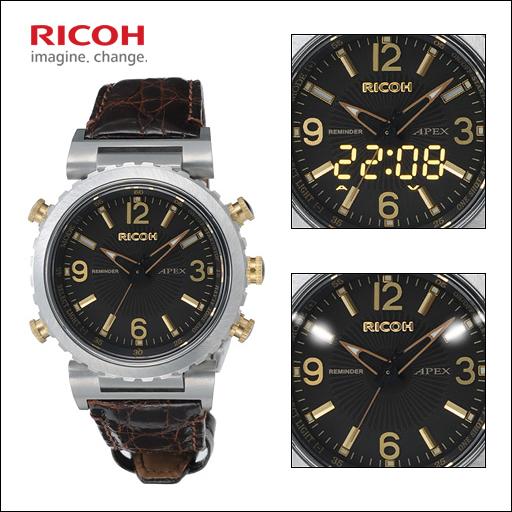 【RICOH】リコー APEX メンズ腕時計 REMINDER アペックス・リマインダー メンズ腕時計 APEX LEDライト搭載・アラーム REMINDER・充電式 660006-36【お取り寄せ商品】【日本製】, 中古パチスロ販売 BIG:b1900866 --- m2cweb.com