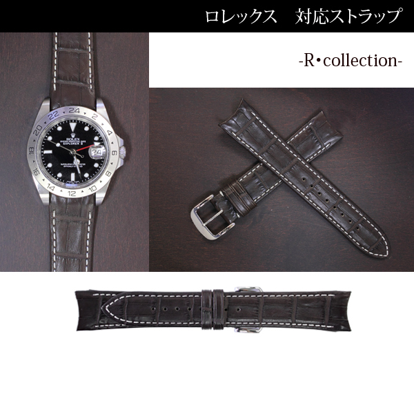 Clock band (with a buckle) 20mm fs3gm for clock belt men RW01BMR for Rolex, collection crocodile dark brown (mat) watches