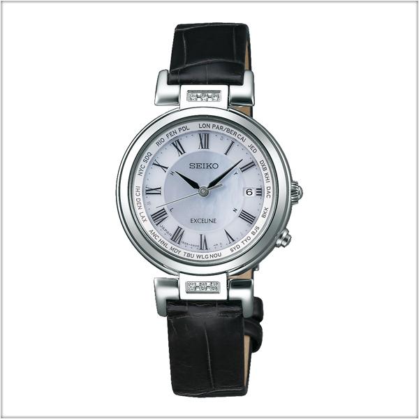 セイコー エクセリーヌ SEIKO EXCELINE 電波 ソーラー 電波時計 腕時計 レディース ペアウォッチ SWCW109【お取り寄せ商品】