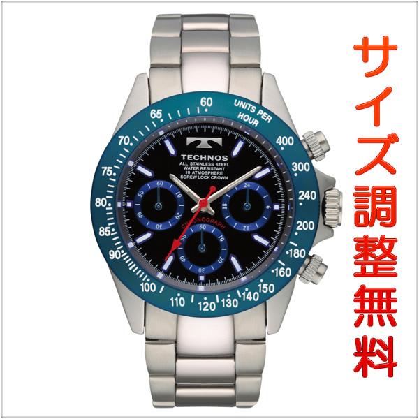 テクノス メンズ 腕時計 TECHNOS TSM401SN クロノグラフ クオーツ ブルー 【お取り寄せ商品】 正規品