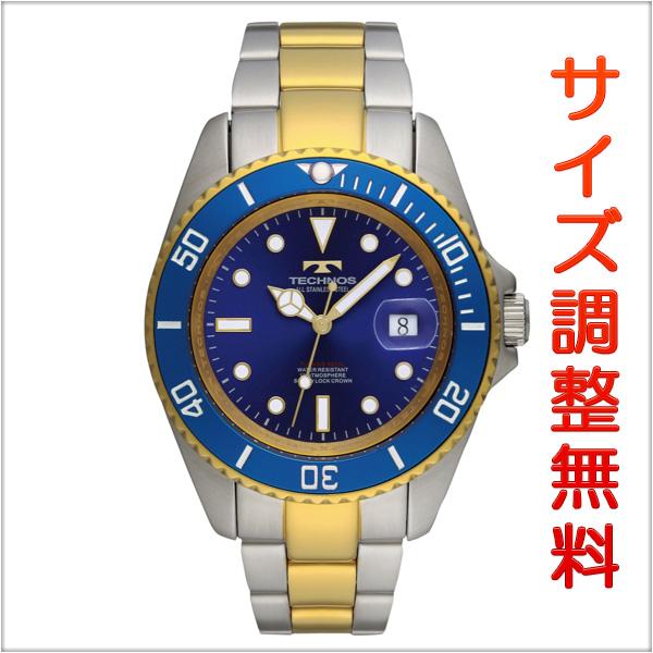 テクノス メンズ 腕時計 TECHNOS TSM402TN ダイバーズ クオーツ ブルー 【お取り寄せ商品】 正規品