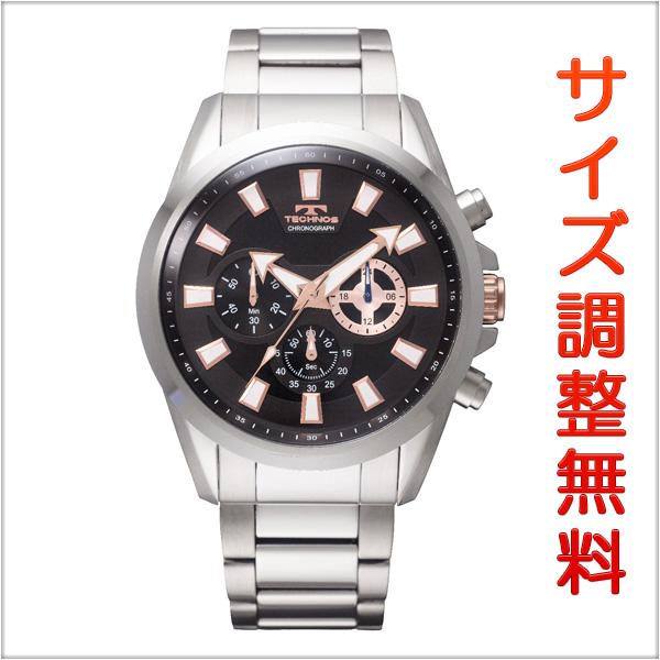 テクノス メンズ 腕時計 TECHNOS TSM616SB クロノグラフ ブラック 【お取り寄せ商品】