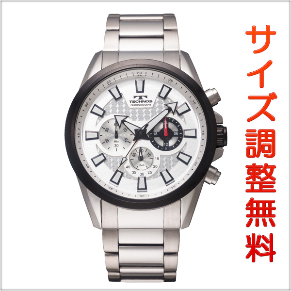 テクノス メンズ 腕時計 TECHNOS TSM616TS クロノグラフ ホワイト 【お取り寄せ商品】 正規品