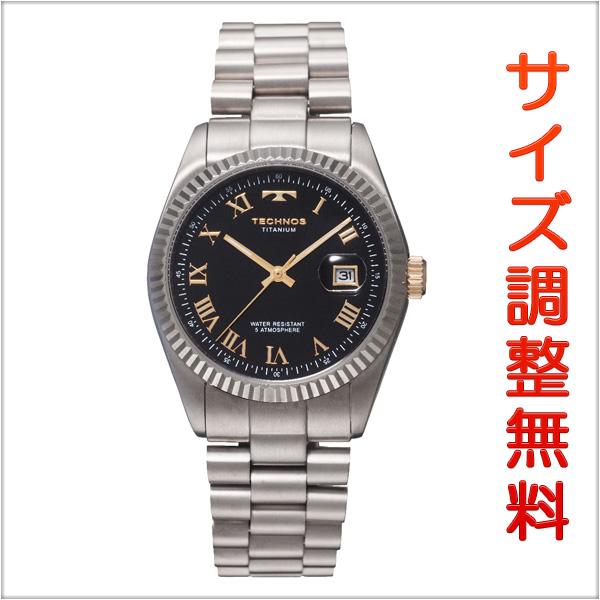 テクノス メンズ 腕時計 TECHNOS TSM914IB ブラック 【お取り寄せ商品】