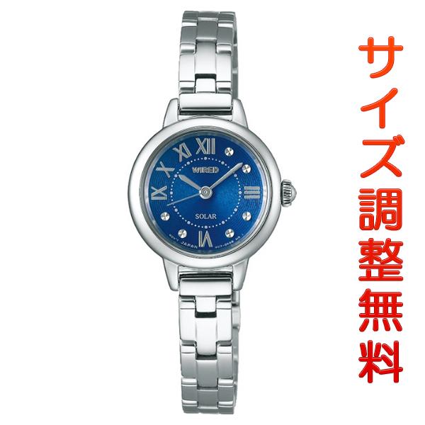 セイコー ワイアード エフ ソーラー レディース 腕時計 AGED096 SEIKO WIRED f ブルー 時計 【お取り寄せ商品】