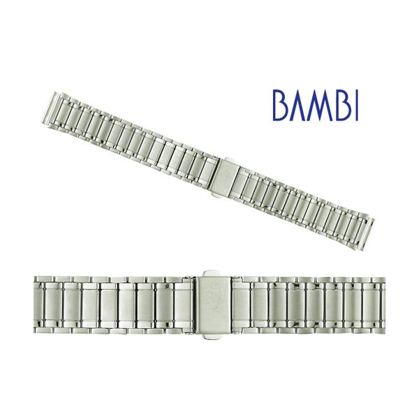 5da09b79f3 時計ベルト 時計バンド バンビ メタル時計ベルト 金属時計ベルト メンズ シルバー BSB4530S バンビ時計 ...