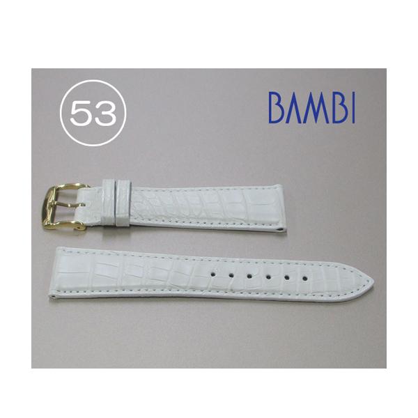 時計ベルト 時計バンド アリゲーター ホワイト 20mm 最高級ワニ 特価ベルト GLS230-53 【あす楽】