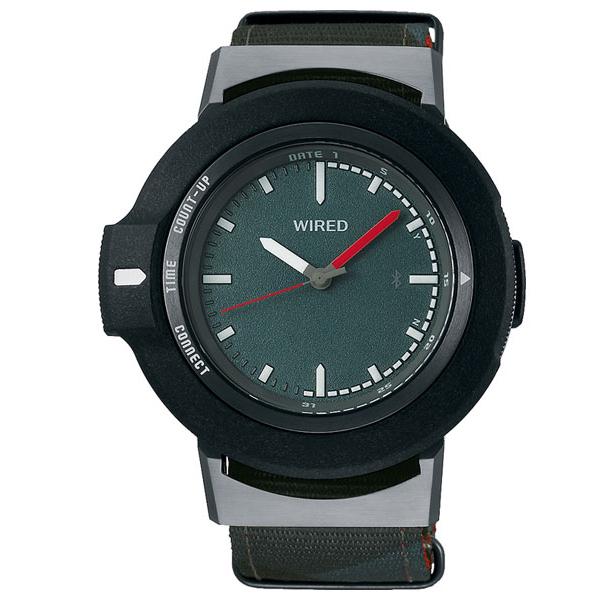 セイコー ワイアード WW ツーダブ Bluetooth メンズ レディース 腕時計 AGAB405 SEIKO WIRED TYPE 01 ダークグリーン 時計