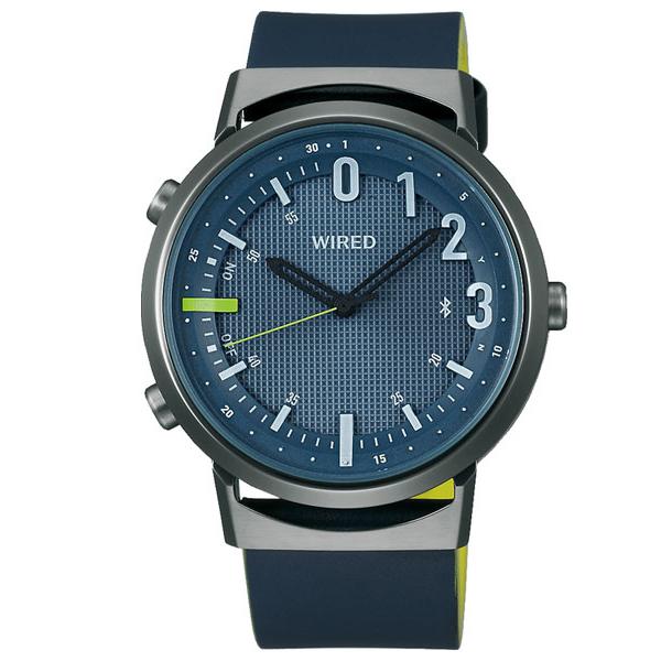 セイコー ワイアード WW ツーダブ Bluetooth メンズ レディース 腕時計 AGAB408 SEIKO WIRED TYPE 02 ネイビー 革ベルト 時計