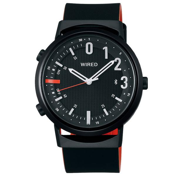 セイコー ワイアード WW ツーダブ Bluetooth メンズ レディース 腕時計 AGAB409 SEIKO WIRED TYPE 02 ブラック 革ベルト 時計