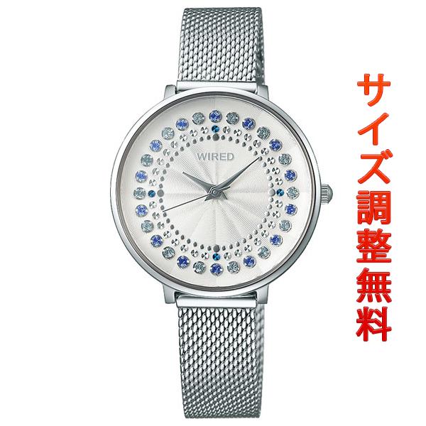 セイコー ワイアード エフ レディース 腕時計 スワロフスキー ラウンド AGEK454 SEIKO WIRED f シルバー 時計