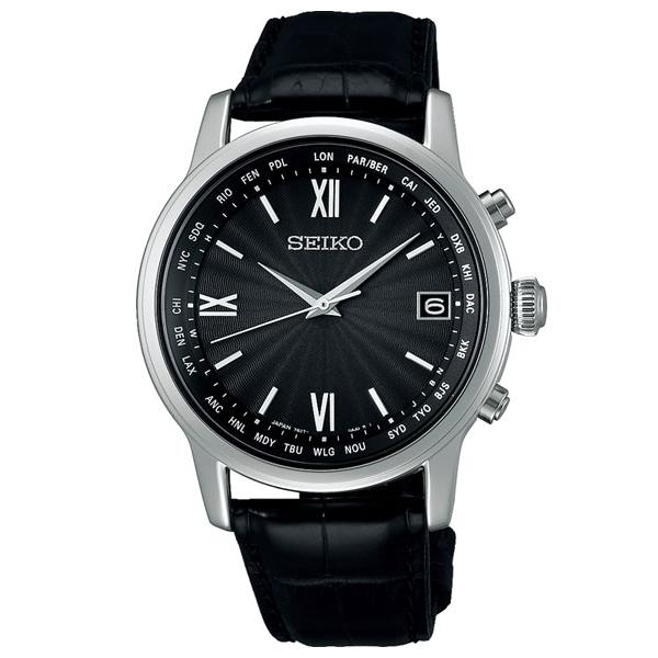 セイコー ブライツ SEIKO BRIGHTZ 電波ソーラー ワールドタイム 腕時計 メンズ SAGZ105