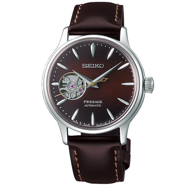 セイコー プレザージュ SEIKO PRESAGE 自動巻き メカニカル 腕時計 レディース ベーシックライン カクテルタイム SRRY037