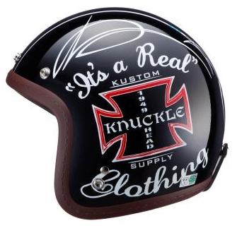 ☆【RIDEZ】ライズ Knuckle Head KUSTOMCROSS ヘルメット ブラック フリーサイズ 【バイク用品】