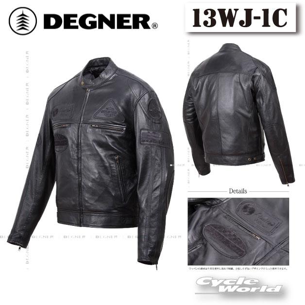 ☆【DEGNER】13WJ-1C シープレザージャケット SHEEP LEATHER JACKET デグナー 革ジャン ビンテージ アメリカン 皮革 【バイク用品】