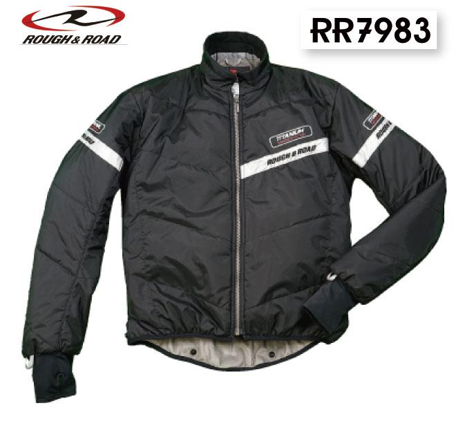 ☆【ROUGH&ROAD】RR7983 チタンシンサレートインナージャケット  防風 冬用 寒さ対策 防寒 ラフ&ロード ラフロ インナー【バイク用品】