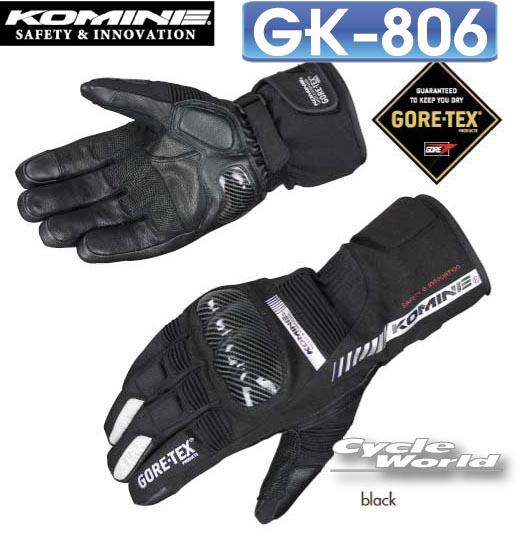 ☆【KOMINE】GK-806 GTXプロテクトウインターグローブ-ガイウス  コミネ GTX Protect W-Gloves-GAIUS 防寒 保温 冬用 寒さ対策 プロテクター【バイク用品】