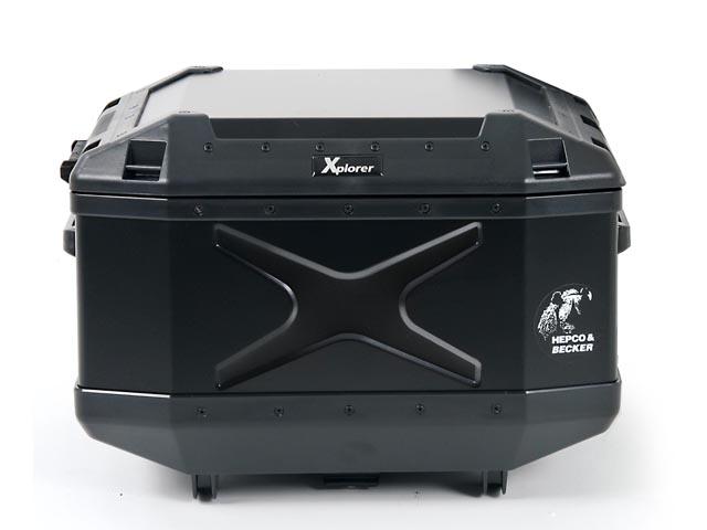 ☆《HEPCO&BECKER》ヘプコ&ベッカー XPLORER エクスプローラー ハードケース トップケース45 310×470×375 ブラック リアボックス リアキャリア パニアケース リアケース トップケース 頑丈【バイク用品】