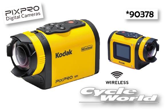 ☆【Kodak】アクションカメラ PIXPRO SP1〔カメラ本体〕 (90378)ツーリング カメラ モトクロス オフロード 口角 160度 撮影 ビデオ【バイク用品】