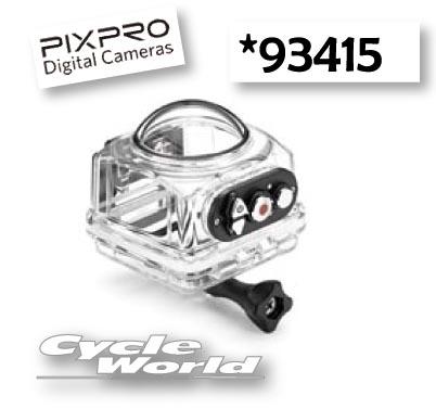 ☆【Kodak】アクションカメラ PIXPRO SP360 4K用  〔防水ケース〕 (93415)ツーリング カメラ モトクロス オフロード 口角 363度 撮影 ビデオ【バイク用品】