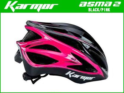 【即納対応】【KARMOR】(カーマー)ASMA2(アスマ2)<ブラック+ピンク> ヘルメット【ヘルメット】【自転車 アクセサリー】 ASMA-2