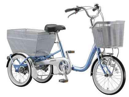 【BRIDGESTONE】(ブリジストン)ワゴン シングルギャ BW10 3輪サイクル【三輪サイクル自転車】【自転車 完成車】【日時指定・代引き不可】