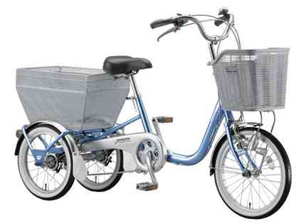 【BRIDGESTONE】(ブリジストン)ワゴン 3段ギャ BW13 3輪サイクル自転車【三輪サイクル自転車】【自転車 完成車】【日時指定・代引き不可】