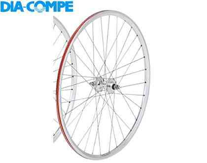 【送料無料】【DIA-COMPE】(ダイアコンペ)グランコンペ トラッククリンチャーホイール シルバー リア用【ホイール】【自転車 パーツ】