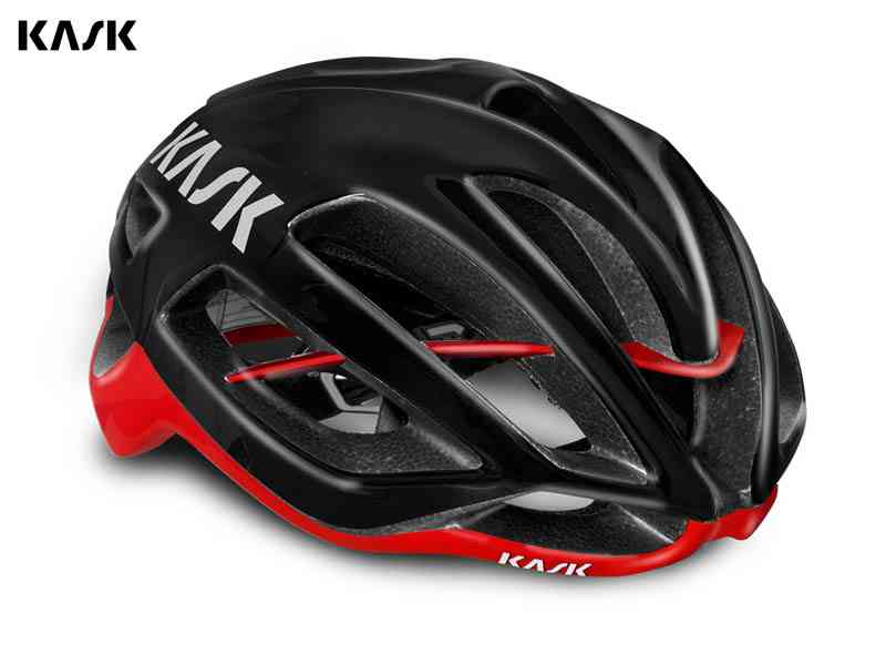 (送料無料)【KASK】(カスク)PROTONE <ブラック/レッド> ロードヘルメット【ヘルメット】(自転車)